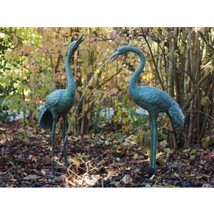 Eliassen Beelden brons paar kraanvogels