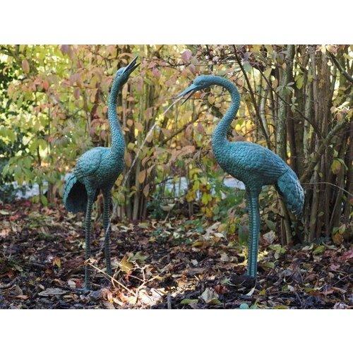 Eliassen Statues bronze pair of cranes