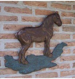 Eliassen Wanddekoration Bronze Brabants Entwurfspferd