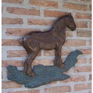 Eliassen Wall decoration bronze brabants draft horse