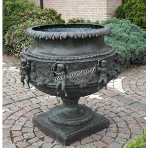 Eliassen Vase Bronze groß mit Putten