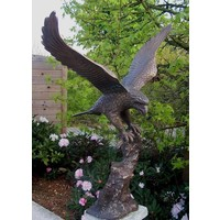 Image bronze eagle with spread wings