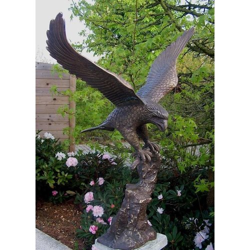 Eliassen Beeld brons arend met gespreide vleugels
