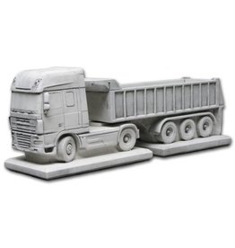 Eliassen Bloembak beton Daf met trailer