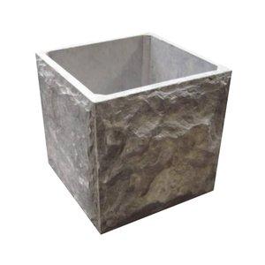 rough stone planter