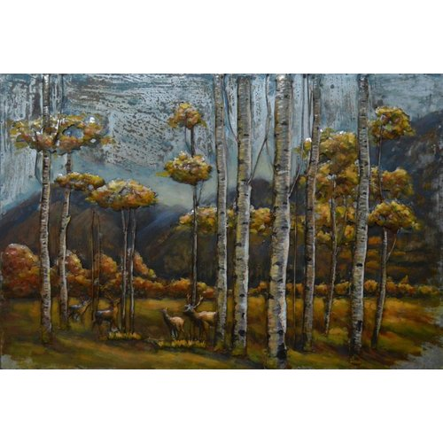 Eliassen 3D-Malerei Metall 80x120cm Neugierig