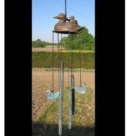 Eliassen Windspiele Bronzeröhren mit Enten
