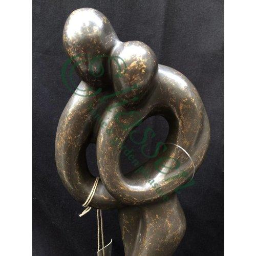 Eliassen Beeld brons klein abstract liefdespaar