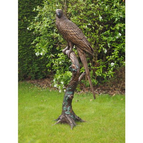 Eliassen Beeld brons papagaai op boomstronk