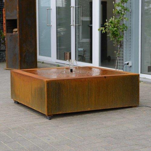 Adezz Producten Wassertisch Adezz Quadrat Corten Stahl in 3 Größen