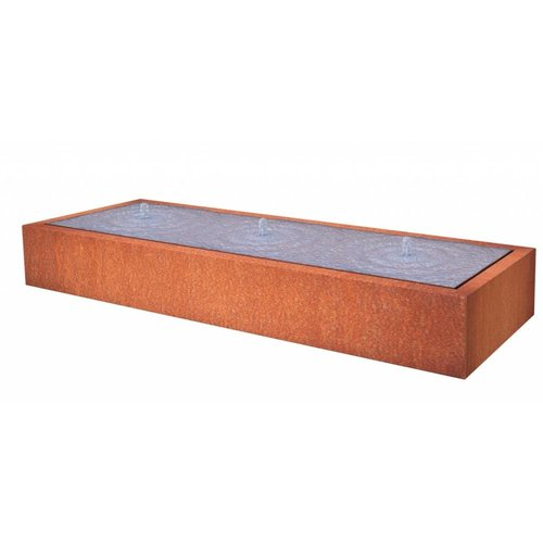 Adezz Producten Water table Adezz rectangular Corten steel in 3 sizes