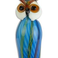 Glass statue murano style owl
