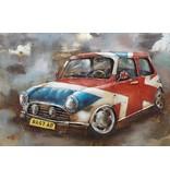 Eliassen 3D-Malerei Metall 120x80cm Mini Cooper