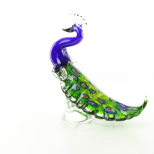 Bild Glas Murano-Stil Pfau