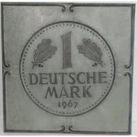 3D schilderij metaal 71x71x4cm Duitse Mark