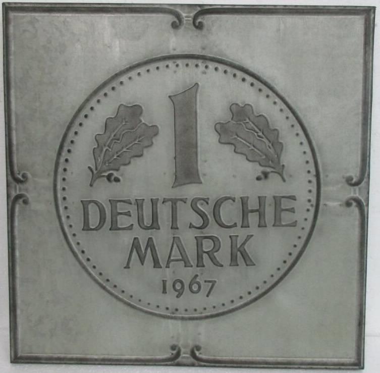 Eliassen 3D-Malerei Metall 71x71x4cm Deutsche Mark
