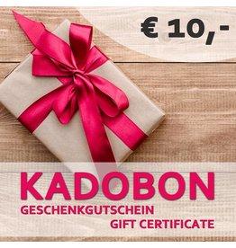 Kadobon 10 euro