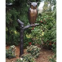 Beel brons Uil op tak groot