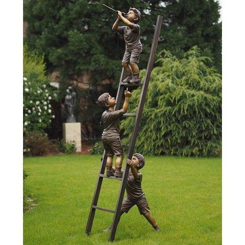Eliassen beeld brons 3 Kinderen op ladder