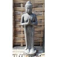 Boeddha beeld staand groetend in 5 maten