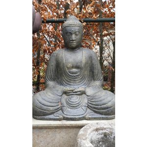 Eliassen Buddha-Statue Japanisch im Lotus ist 80 cm