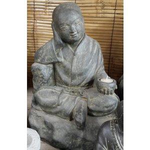 Eliassen Shaolin Mönch sitzt
