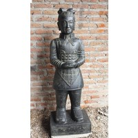 Stenen beeld Chinese krijger 200cm