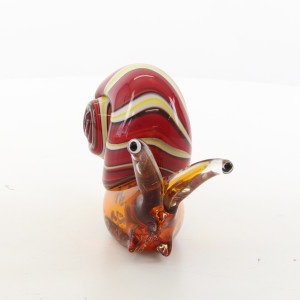 Murano style snail glass statue