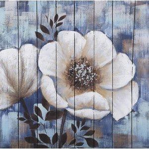 Eliassen Oil on wood painting Flowers 4 80x80cm