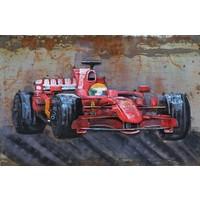 Metaal schilderij Formule1 120x80cm