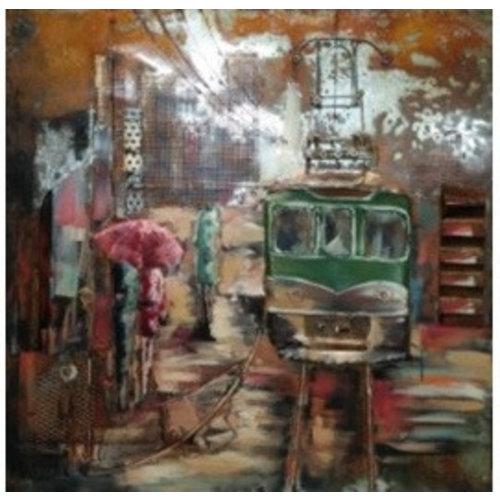 Eliassen Metal painting Chaos 100x100cm