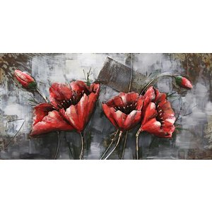 Eliassen Metal 3d painting Red Flower1 120x60cm