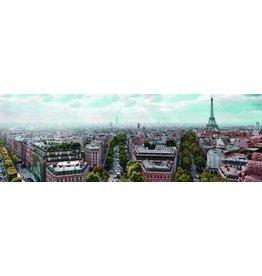Eliassen Glas schilderij 45x140cm Parijs