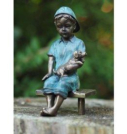 Eliassen Bronzen beeld jongen met boek
