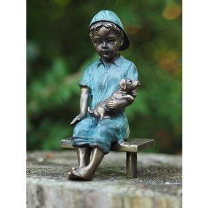 Eliassen Bronze sculpture boy with book