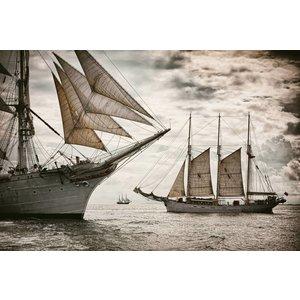 Eliassen Glass-painting 80x120cm Sailers