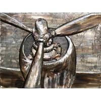 Malerei 3d Metall 60x80cm Propeller