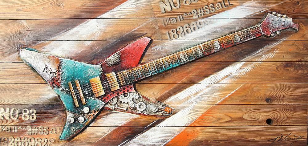 Eliassen 3D-Malerei Holz 64x130cm Rock