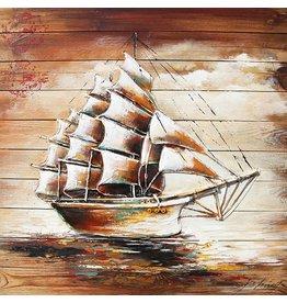 Eliassen Schilderij hout 3d 91x91cm Sailer