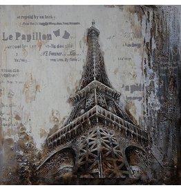 Eliassen 3D schilderij canvas 100x100cm Eiffel