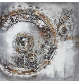 Eliassen 3D schilderij canvas 100x100cm Time