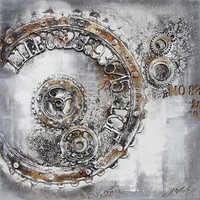 3D schilderij canvas 100x100cm Time