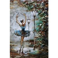 Metalen 3d schilderij 80x120cm Ballerina