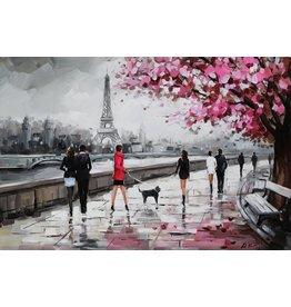 Oil painting 80x120cm Seine