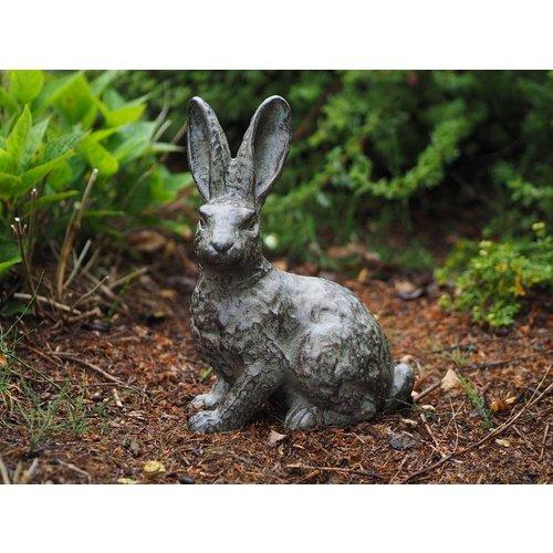 Eliassen Bronzestatue Kaninchen stehend