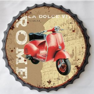 Wall decoration beer cap Vespa