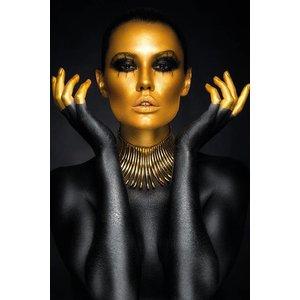 MondiArt Aluminum painting Black and gold