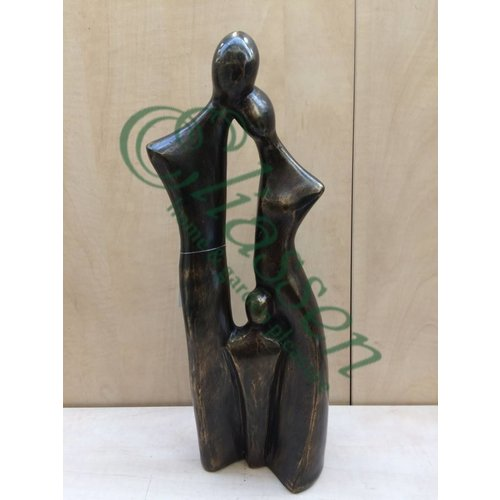 Bronzen beeld Familie 1 kind