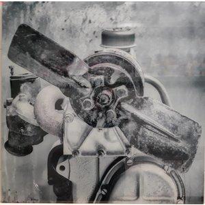 MondiArt Gemälde Glas Motor 100x100cm
