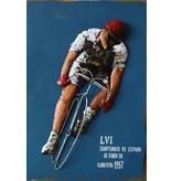 Eliassen 3D schilderij 90x60cm Wielren affiche